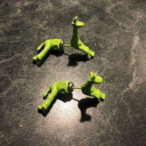 Jewelry - 💚Hot Green Giraffe 🦒 Earrings 💚